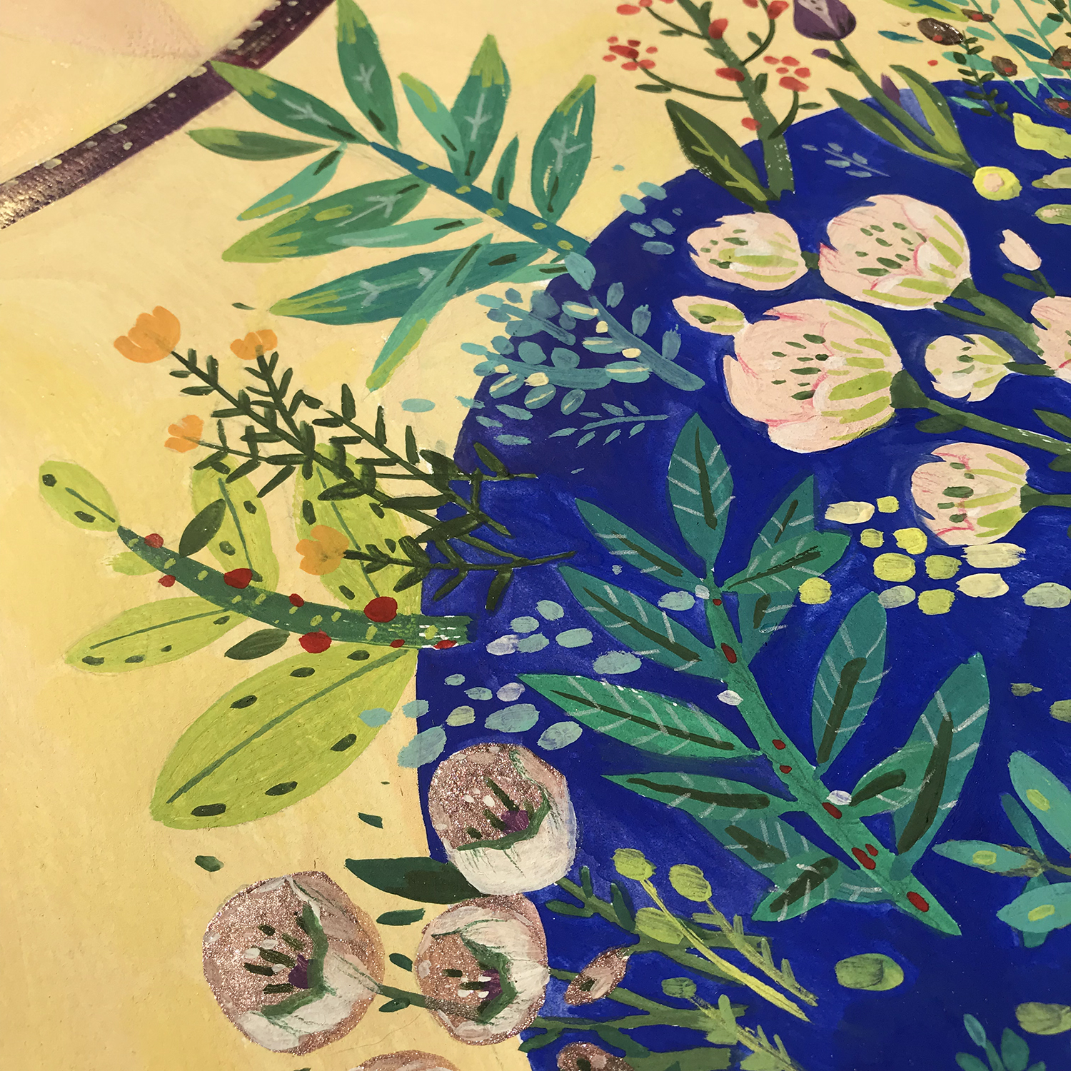 the-holy-sun-details-plants-flowers-art-painting